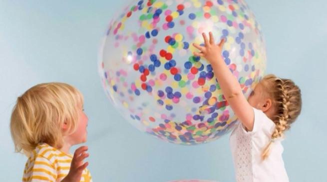 Надувные шары с конфетти