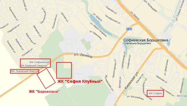 ЖК «Софія Клубний» на карті